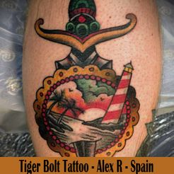 Tiger Bolt Tattoo - Spain